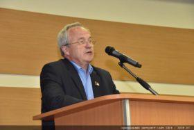 А. В. Воробьев выступает на Пленуме ЦК КПРФ
