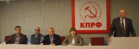М.К.Парамонов выступает перед делегатами