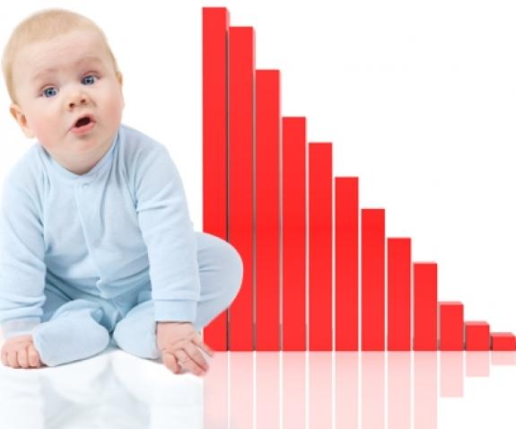 В России стали меньше рожать детей