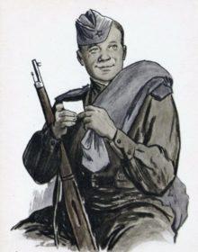 Василий Тёркин. Иллюстрация Ореста Верейского