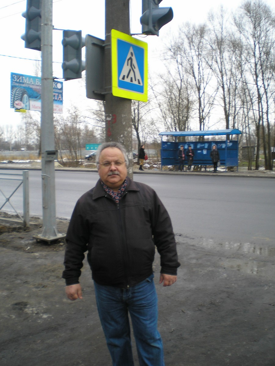 Д.Н. Яковлев у нового светофора