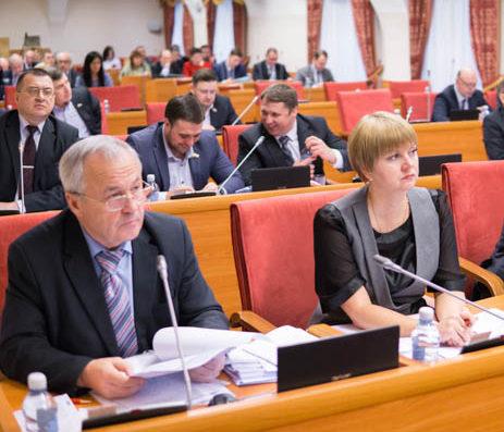 Депутаты-коммунисты А.В.Воробьев и Е.Д.Кузнецова