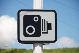 Speed camera sign, Folkestone