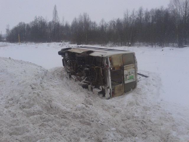 Две аварии — автобусы сошли с трасс. Есть пострадавшие