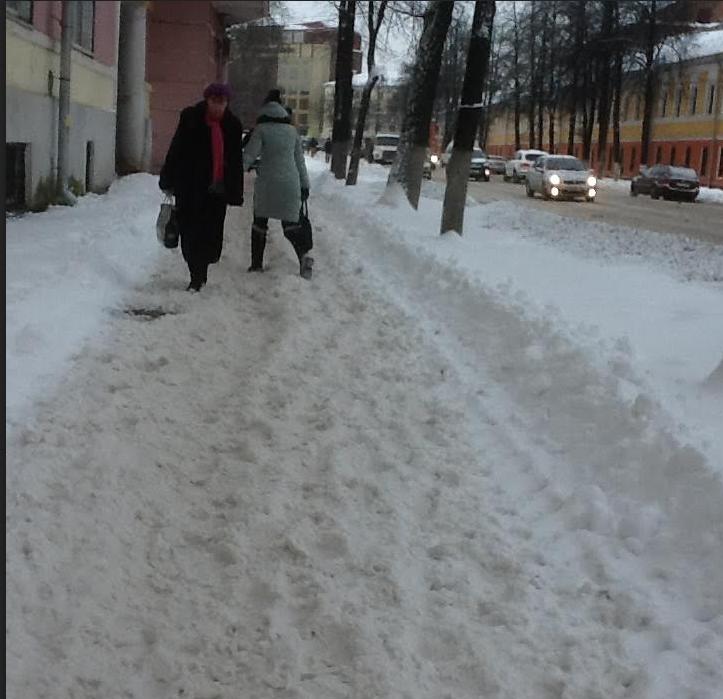 Тротуары стали непроходимыми