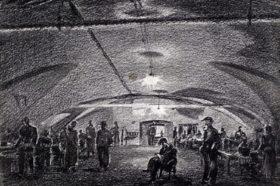 3-е бомбоубежище. картина Александра Никольского, 1941 год