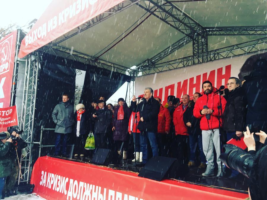 П.Н. Грудинин на митинге в Москве: Мы будем стоять за справедливость!