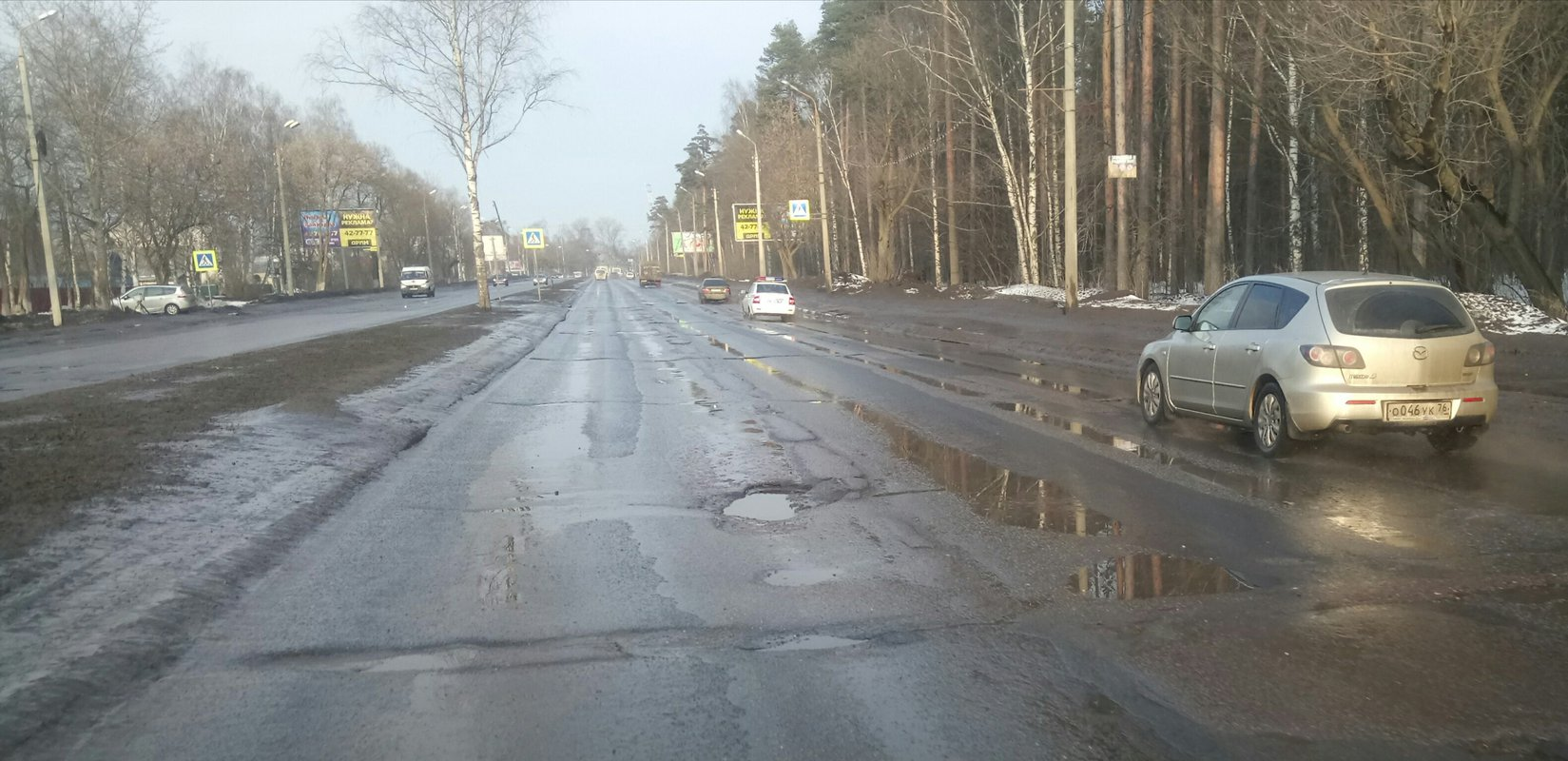 Проспект Авиаторов пока не дождался ремонта