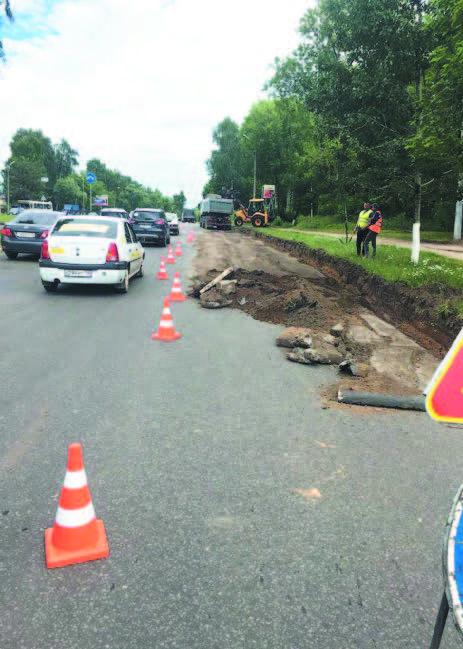 Дорожный ремонт завалился на старте