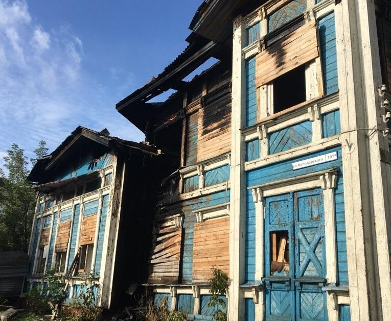 В Ярославле пострадал памятник культурного наследия