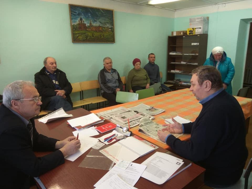 Руководитель фракции КПРФ Ярославской областной Думы провел прием населения в Данилове