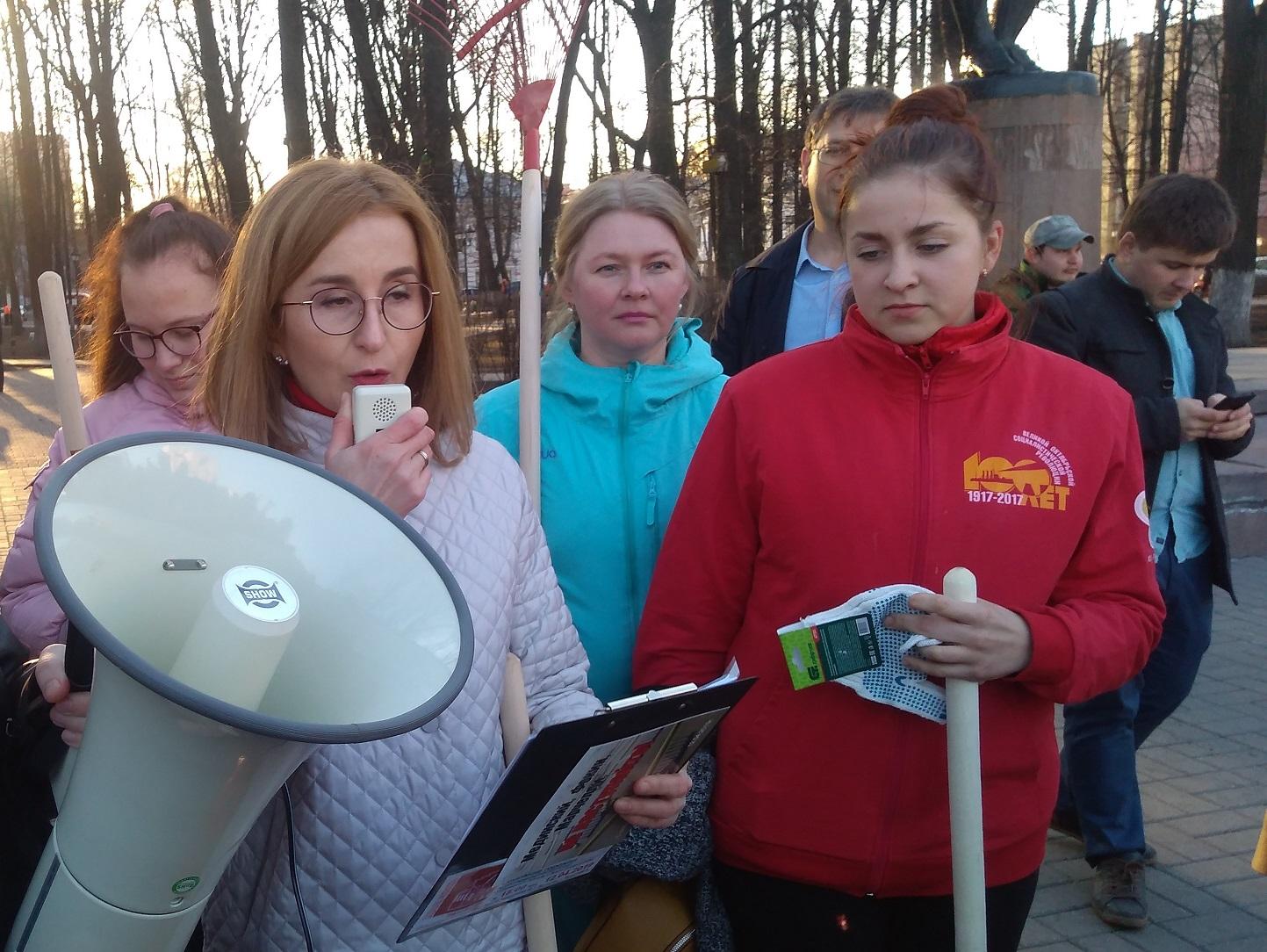 Театральный субботник в Ярославле (видео)