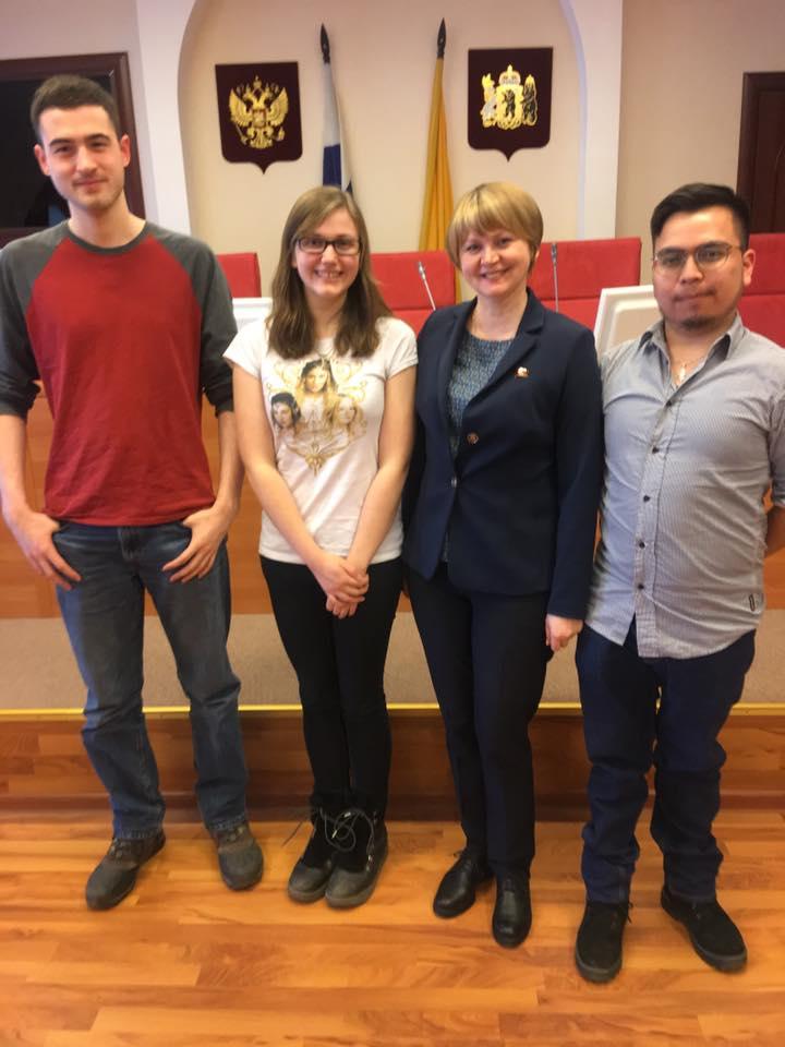Американским студентам понравилось в областной думе