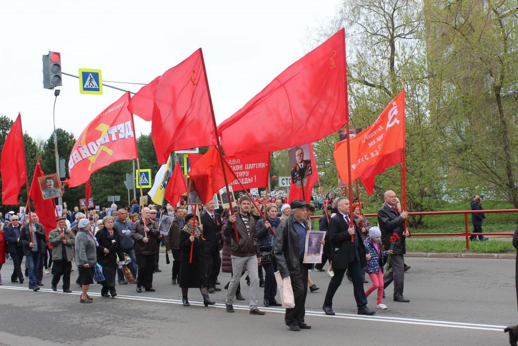 «Сталинский полк» в День Победы прошел по Рыбинску