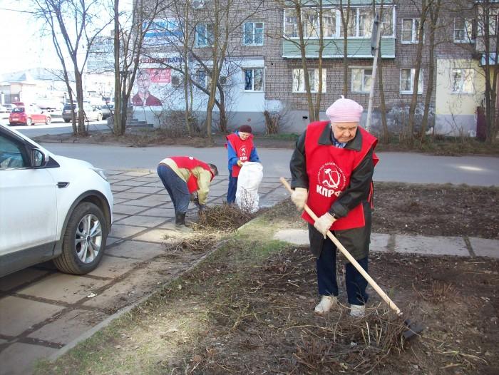 В Рыбинске коммунисты провели ленинский субботник