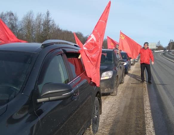 Автопробег КПРФ «За честные выборы!» по Ярославскому району