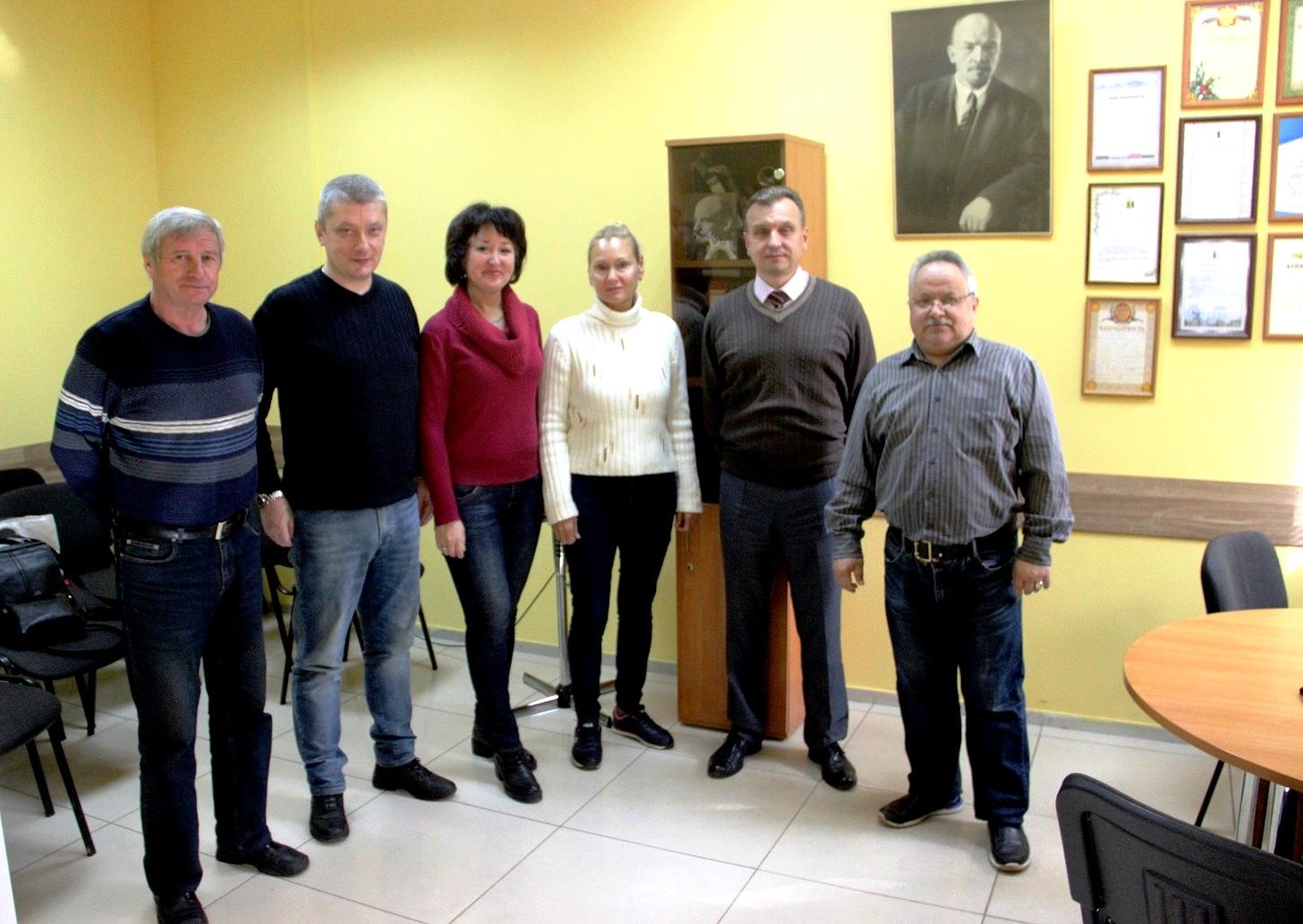 Обмен опытом работы в Дзержинском-Северном райкоме КПРФ