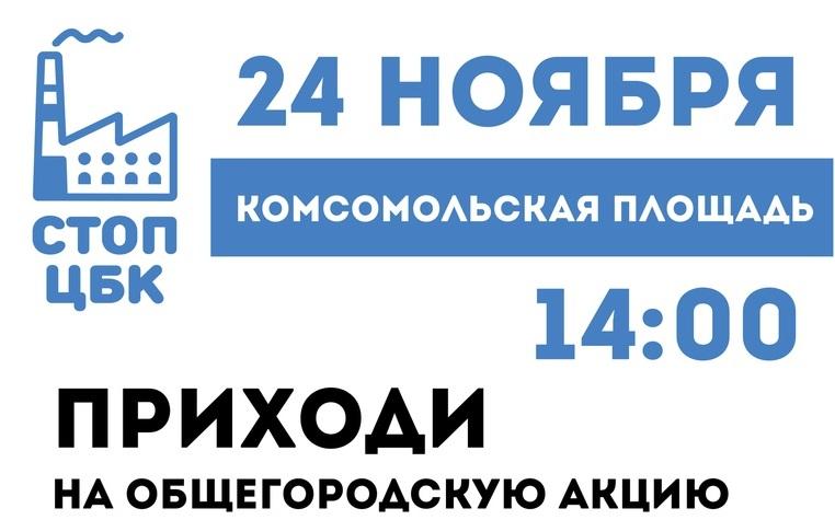 Общегородская акция в Рыбинске против строительства ЦБК