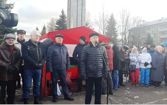 Видео митинга в Рыбинске против строительства ЦБК на Волге
