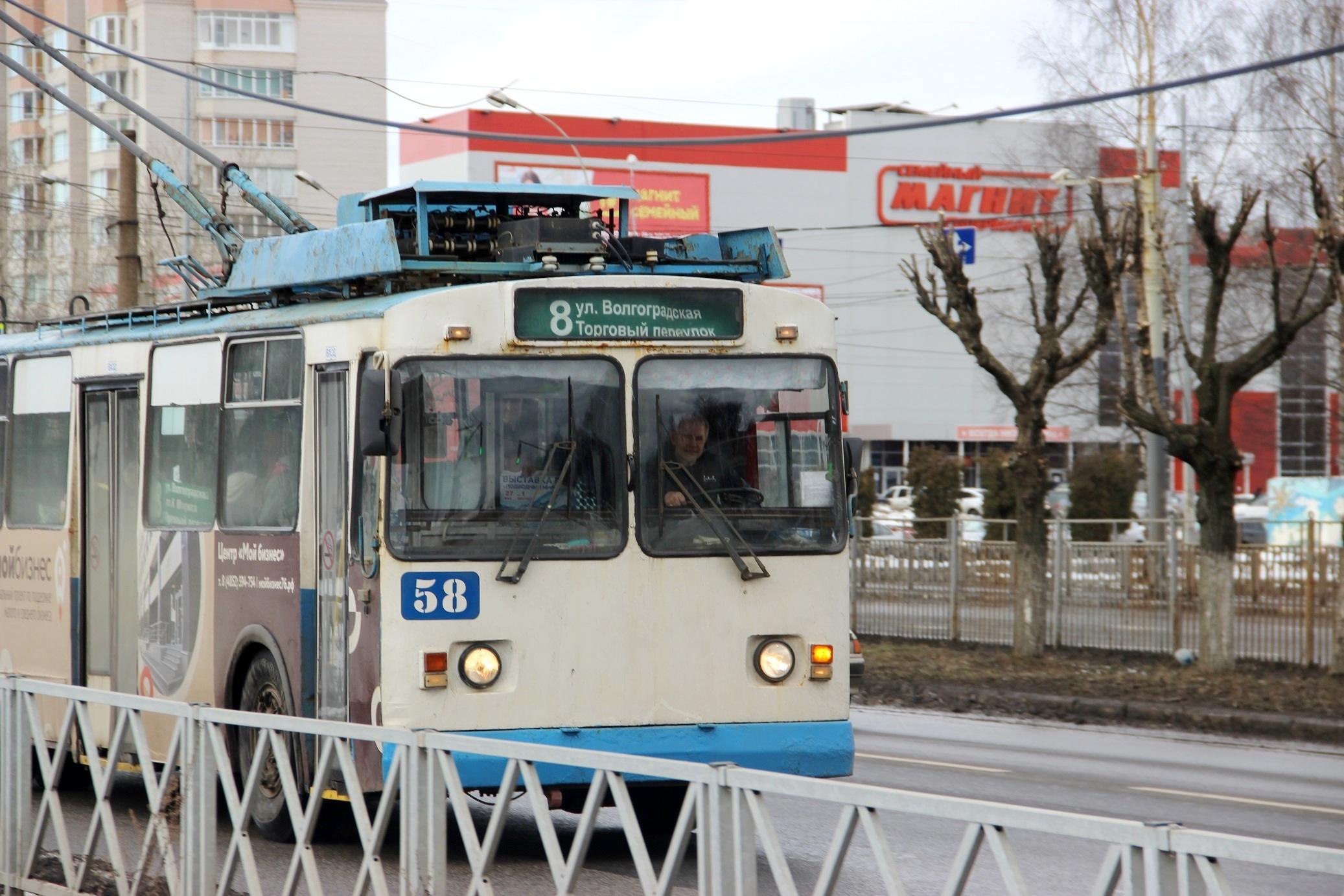 Работа общественного транспорта в Ярославле