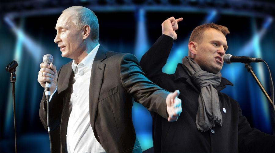 Путин уступил Навальному в рейтинге личностей, вдохновляющих поколение 40-летних россиян