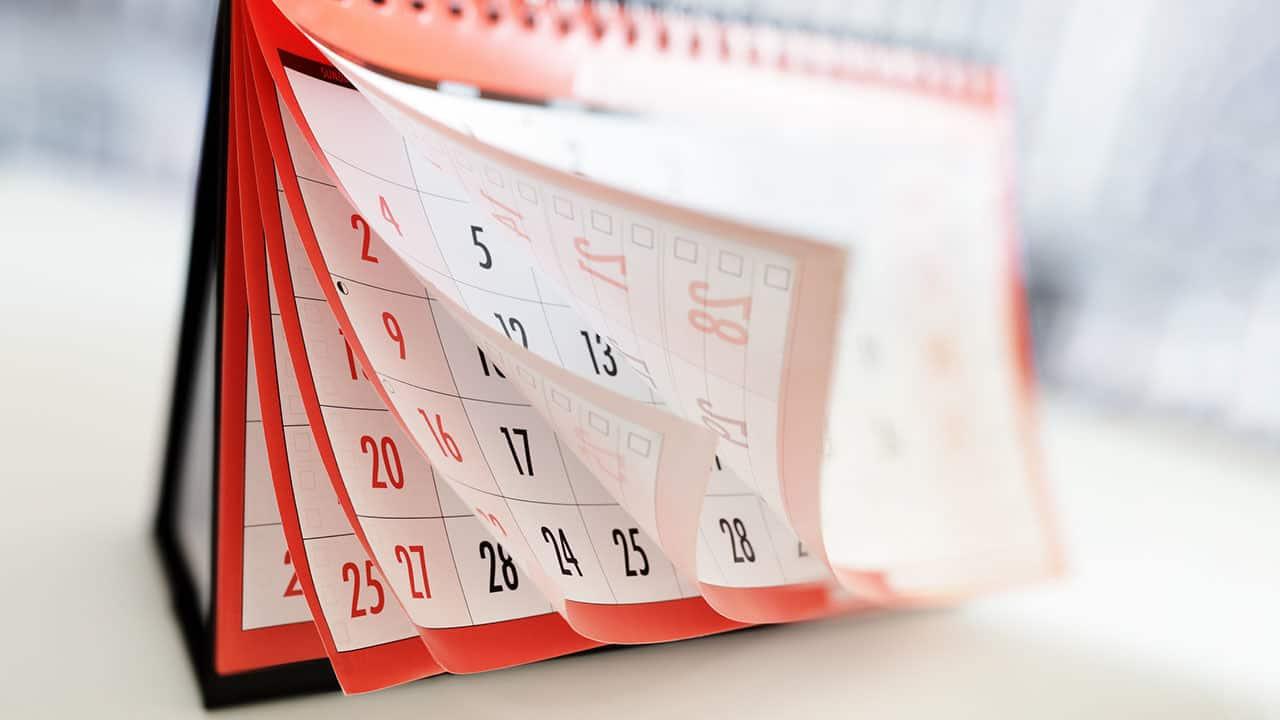 8 дней календаря