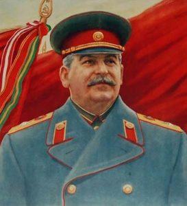 Цветы к бюсту И. В. Сталина