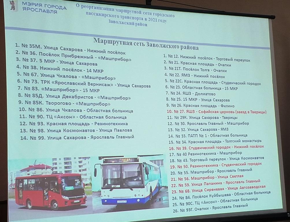 В Заволжском районе прошли первые общественные слушания по новой транспортной схеме