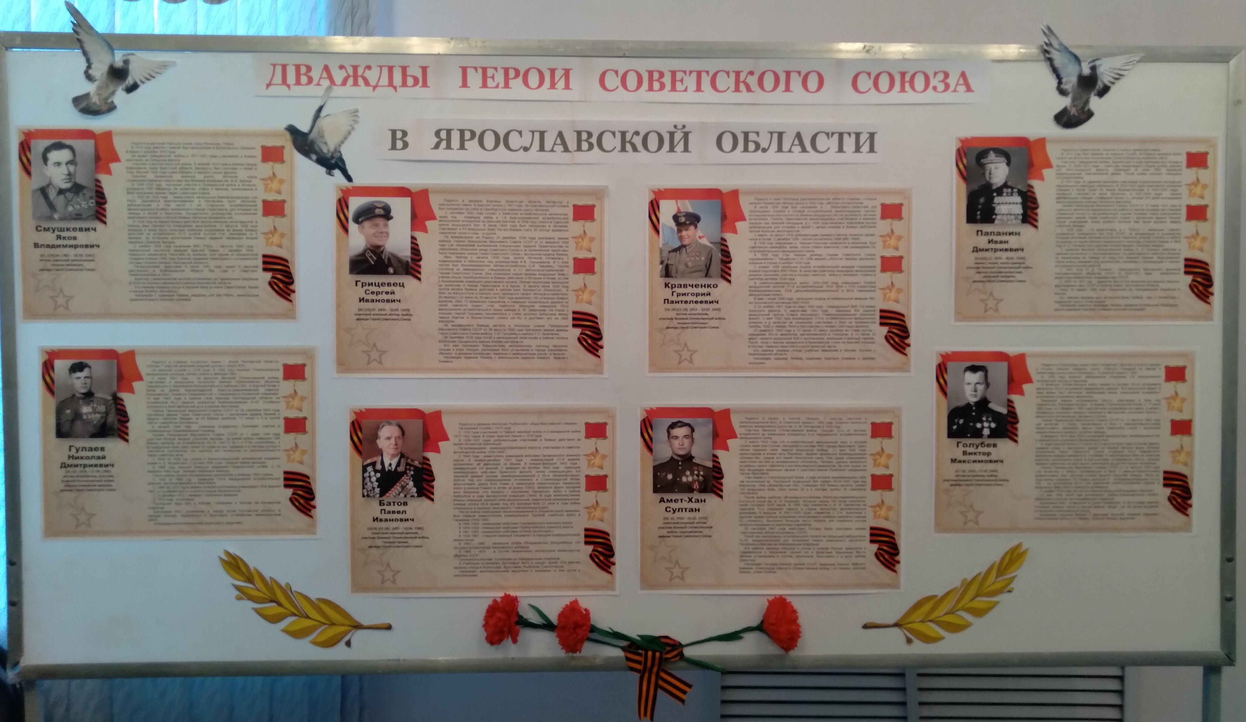 «Дважды Герои Советского Союза в Ярославской области»