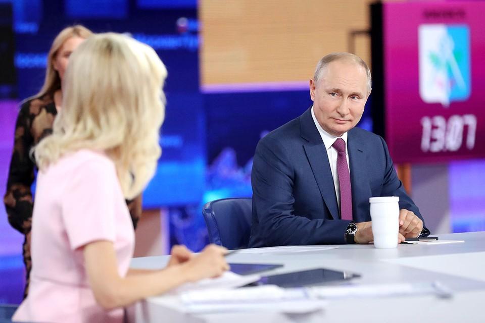 Как Путин отвечал на вопросы во время прямых линий. Инфографика