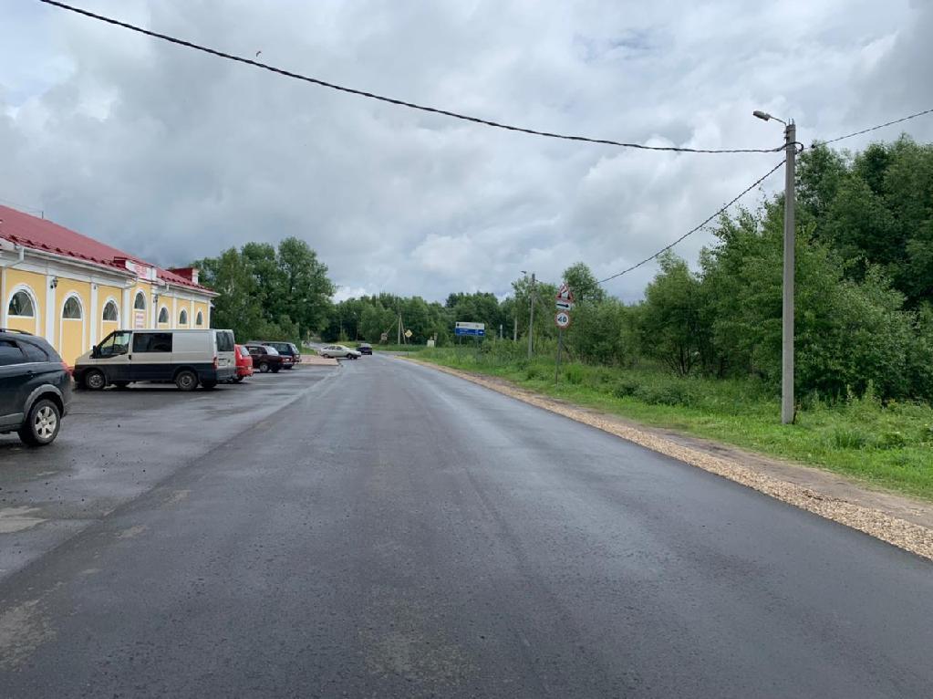 Прокуратура заставила отремонтировать дорогу в Мышкине