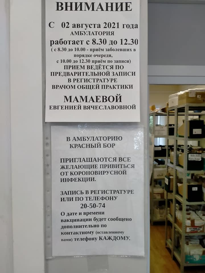 Красноборская амбулатория осталась с одним врачом общей практики на 14 000 обслуживаемого населения
